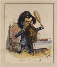 calling the club to order by thomas nast