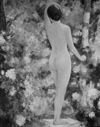 female nude in a garden by maud humphrey