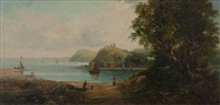 coast near sorrento, italy by henry smyth