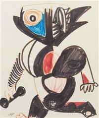 abstract portrait by bernard lorjou