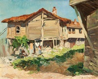 derrière la maison by vyacheslav pavlovich bychkov