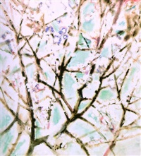 kukkiva mantelipuu by anita snellman