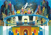 metropolis a xx. század sorozatból - metropolis from the series 20th century by lóránt nyári