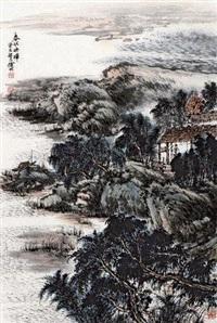 春江秀水 镜心 纸本 by xu ming