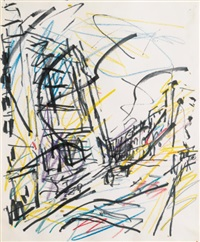 study for mornington crescent - winter morning (study) by frank auerbach