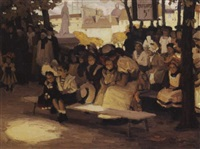waiting for the show by harry mills walcott