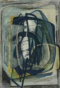 abstraction in blue by margaret (margo) hetty lewers