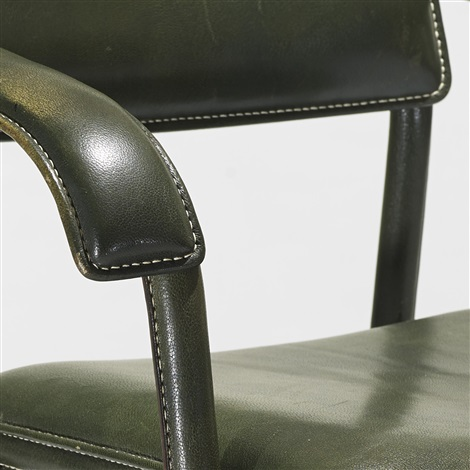 armchairs pair by jacques adnet