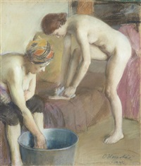 femmes au tub by oldrich homolác