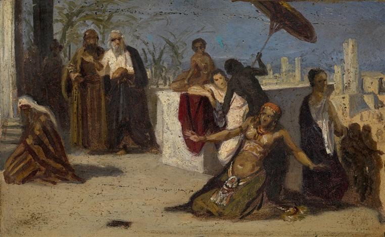 egyptian scene by isaak lwowitsh asknasij