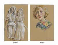 untitled (double-sided) by john currin