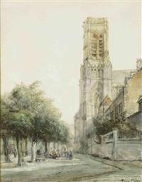 figures on the church square by pierre (henri théodore) tetar van elven