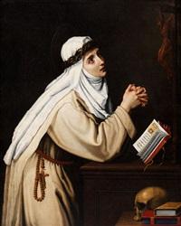 santa caterina di siena by cristofano allori