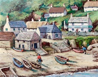 cadgwith cove, cornwall by kathleen merrick