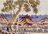 untitled (central australian landscape) by otto pareroultja