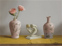 the nude and the vases by renato meziat