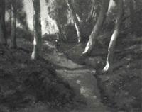 waldlandschaft mit spaziergängern by maria philippina bilders-van bosse