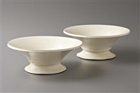 pair of footed bowls by takeshi yasuda