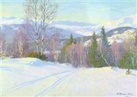 norrländskt vinterlandskap by ante karlsson-stig