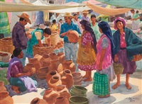 buying ollas, tlacolula by tom hill
