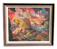 untitled (spanish civil war) by george bernard duncan