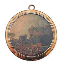 l'équipage du roi louis xv chassant à courre ou hallali de cerf dans un paysage by louis nicolas van blarenberghe
