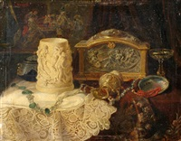 still life with ivory goblet by lea reinhart