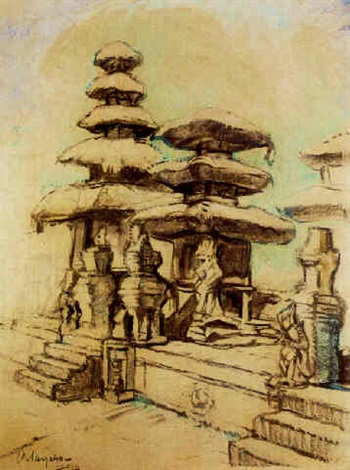 temple bali by charles sayers