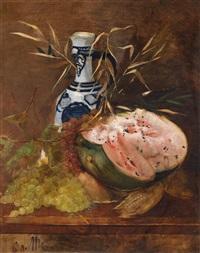 früchtestillleben mit melone by karl von merode