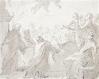apostelgruppe, den blick zum himmel gewandt (study) by martino altomonte
