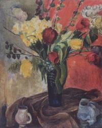 stilleben mit tulpen und narzissen by eric isenburger