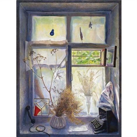 summer studio window by nikolai alexeievich kasatkin