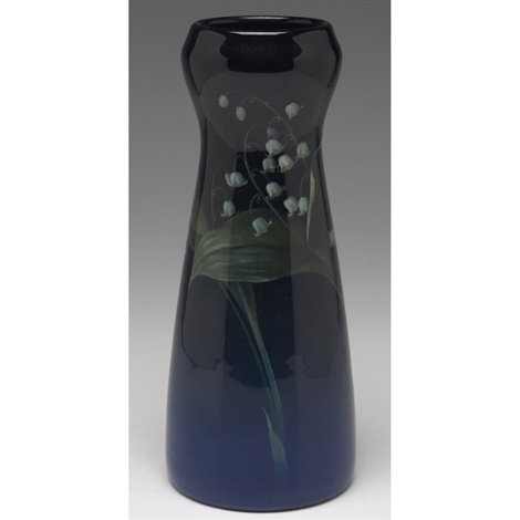 vase painted by car schmidt by rookwood pottery