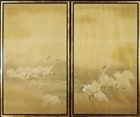 egrets by gyokusho kawabata