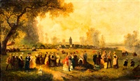zomerfeest in de campagne by guillaume françois colson