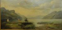 paysage au lac de montagne by jean marie reignier