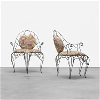for liliane chairs, pair by andré dubreuil