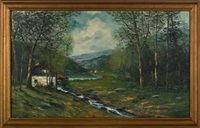 landscape with mill by a. roedel
