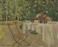 unser kaffeetisch: coffee in the garden by ulrich v. uechtritz-steinkirch