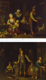 peasant families in interiors with fruit and dead game by german school-frankfurt (18)