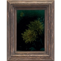 chrysanthemums plaque by albert r. valentien