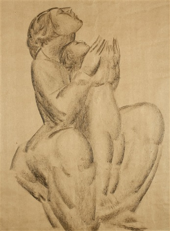 mutter mit kind by ivan mestrovic