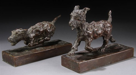 bookends pair by edith barretto stevens parsons