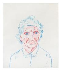 portrait of mother iii by david hockney