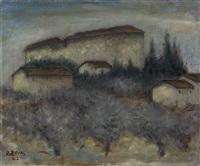 ottonerosai_florence1895_ivrea1957 paesaggio by ottone rosai