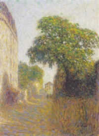 rue à montmartre by anatole eugène hillairet