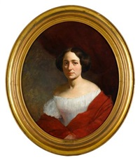 portrait of lydia sprague by thomas le clear