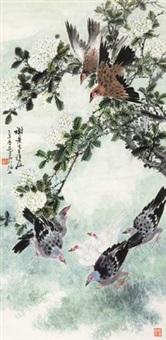 绣球群鸽 by qiao mu
