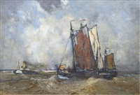 tug and tow in the mouth of the elbe by karl leipold