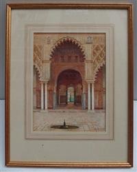 intérieur de palais maure by f. liger hidalgo
